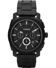 Fossil FS4552 Mens Machine Black IP Steel Bracelet Chronograph Watch