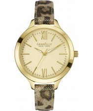 Caravelle New York 44L161 Ladies Carla Metallic Leopard Pat Watch