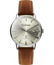 Barbour BB043CMBR Mens Whitburn Brown Leather Strap Watch
