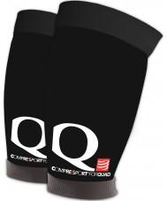 Compressport QD99T3 ForQuad Black Thigh Guard - Size Top 57-67cm