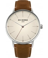 Ben Sherman WB009T Mens Portobello Touch Brown Leather Strap Watch