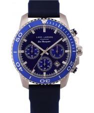 Lars Larsen 134SDDS Mens Sea Navigator Sport Blue Silicone Strap Watch
