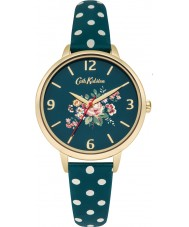 Cath Kidston CKL004NG Ladies Briar Rose Green PU Leather with Polka Dots Watch