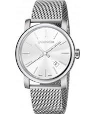 Wenger 01-1041-121 Mens Urban Vintage Silver Steel Mesh Bracelet Watch