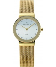 Skagen 358SGGD Ladies Klassik White Gold Mesh Watch