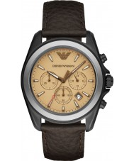 Emporio Armani AR6070 Mens Matte Dark Brown Chronograph Sports Watch