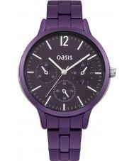 Oasis B1534 Ladies Purple Metal Bracelet Watch
