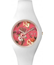 Ice-Watch 001437 Ladies Ice-Flower White Silicone Strap Small Watch