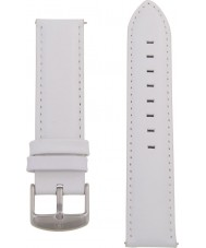 Charles Conrad CDA1006-15-L23 White Leather Strap