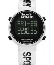 Superdry SYG203W Mens Digi Pedometer White Silicone Strap Watch