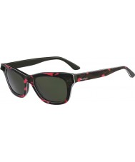 Valentino Ladies V670SS Fluo Fuchsia Army Green Sunglasses