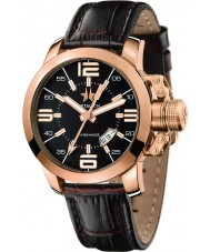 Metal CH 1340-47 Mens Initial Gold Brown Watch