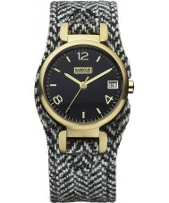 Barbour BB001GDHB Ladies Hayle Two Tone Herringbone Fabric Strap Watch