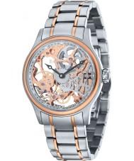 Thomas Earnshaw ES-8049-33 Mens Bauer Two Tone Steel Mechanical Skeleton Watch