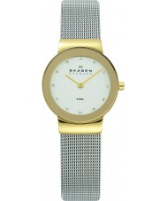 Skagen 358SGSCD Ladies Klassik White Silver Mesh Watch