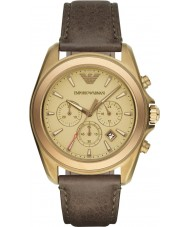 Emporio Armani AR6071 Mens Matte Khaki Chronograph Sports Watch