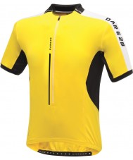 Dare2b DMT134-0QX40-XS Mens Astir Bright Yellow Jersey T-Shirt - Size XS