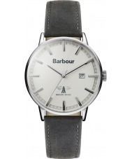 Barbour BB043WHGY Mens Whitburn Grey Leather Strap Watch