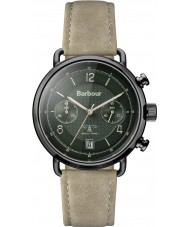 Barbour BB053GRKH Mens Salisbury Khaki Leather Strap Watch
