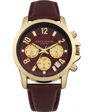 Daisy Dixon DD002RRG Ladies Adriana Multidial Bordeaux Leather Strap Watch