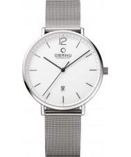 Obaku V181GDCWMC Mens Silver Steel Mesh Bracelet Watch