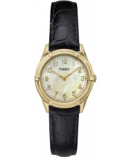 Timex TW2P76200 Ladies Easton Avenue Black Leather Strap Watch