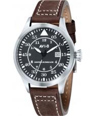 AVI-8 AV-4012-02 Mens Hawker Hurricane Brown Leather Strap Watch
