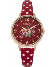 Cath Kidston CKL004RRG Ladies Briar Rose Red PU Leather with Polka Dots Watch