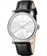 Wenger 01-1041-122 Mens Urban Vintage Black Leather Strap Watch