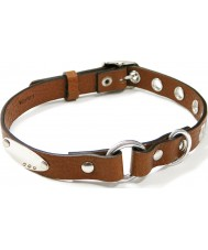 I Puppies PCY-004 Brown Leather Dog Collar