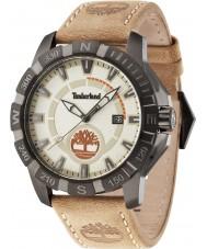 Timberland 14491JSU-07 Mens Harling Beige Leather Strap Watch