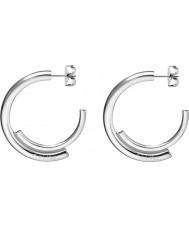 Calvin Klein KJ5GME000100 Ladies Scent Silver Steel Creole Earrings