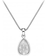Hot Diamonds DP541 Ladies Stargazer Teardrop Silver Pendant Necklaces
