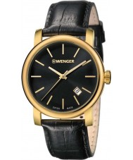 Wenger 01-1041-123 Mens Urban Vintage Black Leather Strap Watch