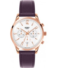 Henry London HL39-CS-0090 Ladies Hampstead White Purple Chronograph Watch