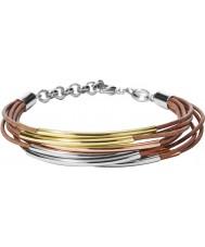 Fossil JA6694998 Ladies Vintage Iconic Brown Leather Bracelet