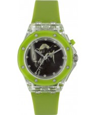 Disney YOD3702 Boys Yoda Flashing Watch with Green Silicone Strap