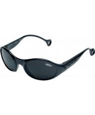Cebe 1977 (Age 3-5) Shiny Glossy Black 2000 Grey Sunglasses