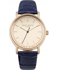 Daisy Dixon DD006URG Ladies Georgia Navy Croc Leather Strap Watch