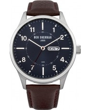 Ben Sherman WB002BR Mens Blue and Brown Leather Strap Watch