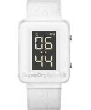 Superdry SYG204W Mens Sprint Digi White Silicone Strap Watch