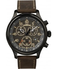 Timex T49905 Mens Black Brown Expedition Field Chronograph Watch