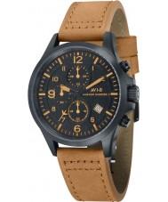 AVI-8 AV-4001-09 Mens Hawker Hurricane II Tan Leather Strap Chronograph Watch