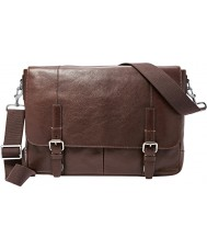 Fossil MBG9224201 Mens Graham Dark Brown EW Messenger Bag