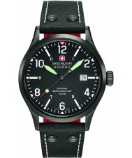 Swiss Military 6-4280-13-007-07 Mens Undercover Black Leather Strap Watch