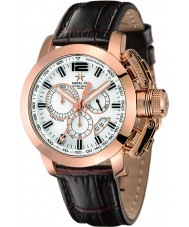Metal CH 2319-44 Mens Chrono Gold Brown Watch