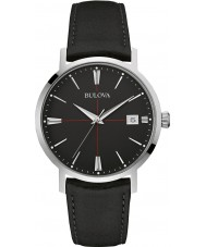 Bulova 96B243 Mens Aerojet Black Leather Strap Watch
