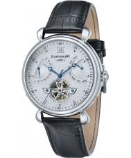 Thomas Earnshaw ES-8046-02 Mens Grand Calender Black Leather Strap Watch