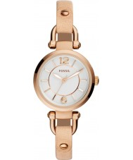 Fossil ES3745 Ladies Georgia Sand Leather Strap Watch