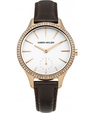 Karen Millen KM112TRGA Ladies Dark Brown Leather Strap Watch